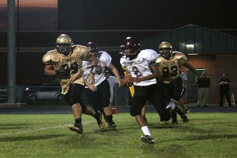 Number 2, Antonio Jackson, running the ball into the endzone vs the Foster Falcons