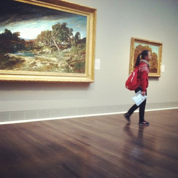 Alice visits an art museum with her host family. Photo by: Willow McGuane