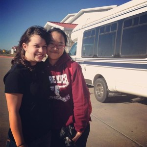 Willow McGuane and her exchange student, Alice. Photo by: Willow McGuane