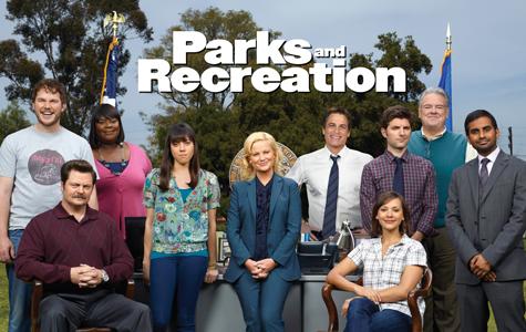 (from left) Chris Pratt, Nick Offerman, Retta, Aubrey Plaza, Amy Poehler, Rob Lowe, Adam Scott, Rashida Jones, Jim O'Heir, and Aziz Ansari.