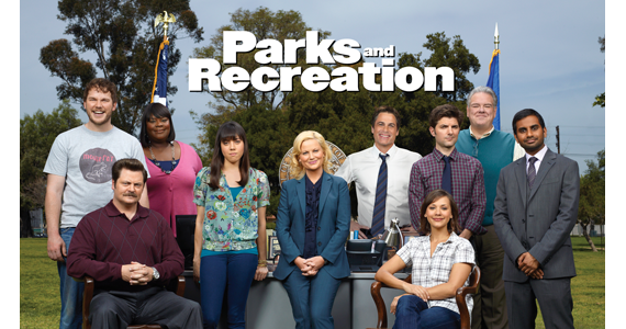 (from left) Chris Pratt, Nick Offerman, Retta, Aubrey Plaza, Amy Poehler, Rob Lowe, Adam Scott, Rashida Jones, Jim O'Heir, and Aziz Ansari.