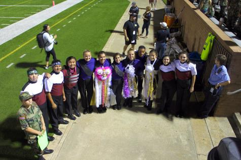 Band members from GRHS and Morton Ranch being friendly