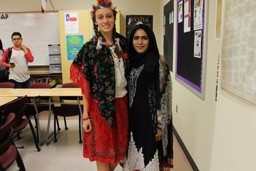 Marth Czernuszenko and Eman Hussain each representing their own cultures of Polish and Indian.