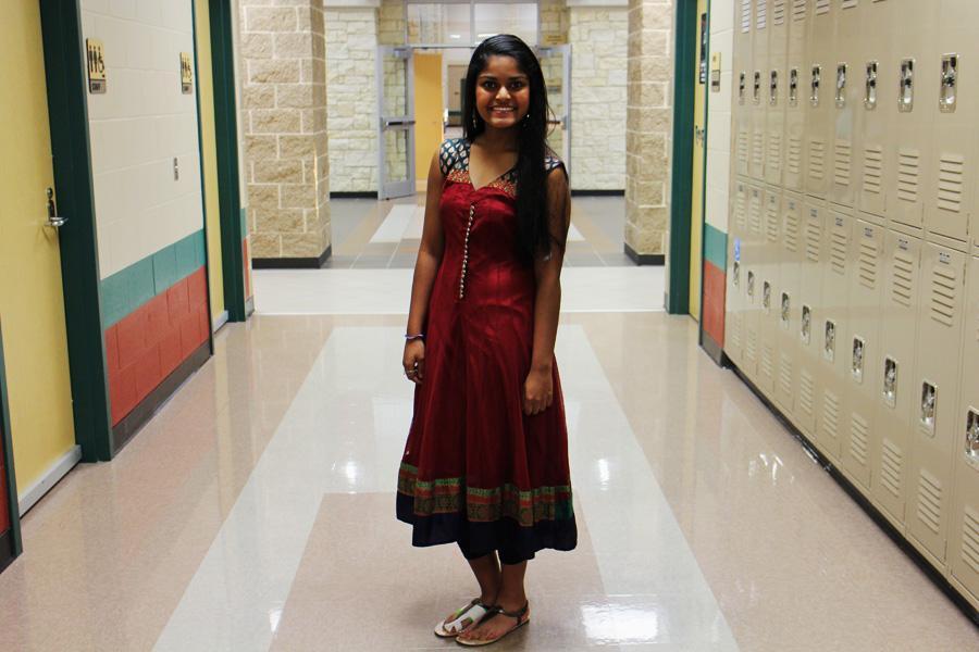 Shreya Desai representing Indian culture.