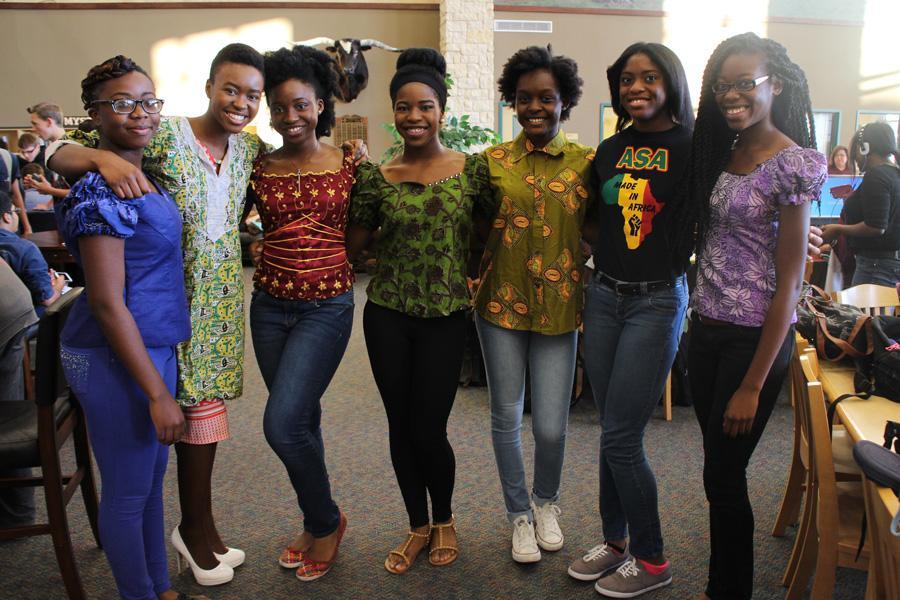 Chidera Diala, Adougo Njoku, Zikora Stephens, Chioma Aladume, Sade Wande, Silhouette Uzoka, and Lnda Etufugh representing African culture.