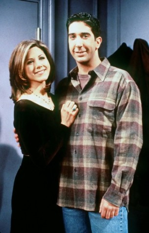 "JENNIFER ANISTON & DAVID SCWIMMERIN ""FRIENDS"" TV."