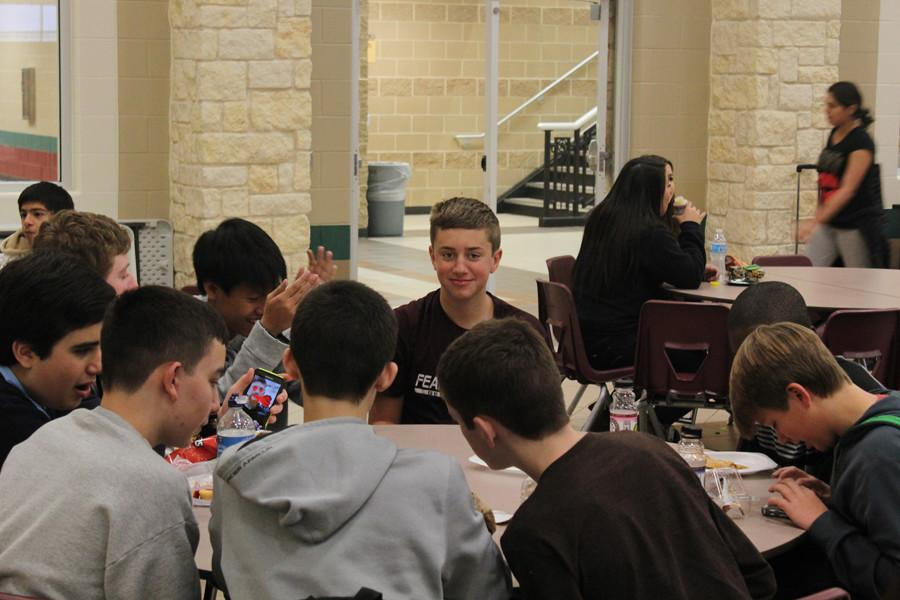 Quality time in the George Ranch Cafeteria