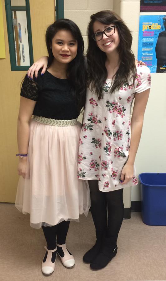 Best friends Julia Nguyen and Jordan Bradley