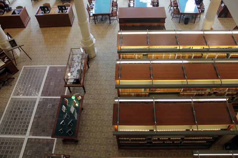 The Texas Capitol library.