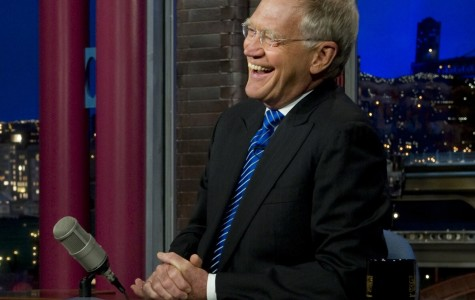 Navy Adm. Mike Mullen, chairman of the Joint Chiefs of Staff shares a laugh with David Letterman during an interview on the Late Show in New York City on June 13, 2011. DoD photo by Mass Communication Specialist 1st Class Chad J. McNeeley/Released)