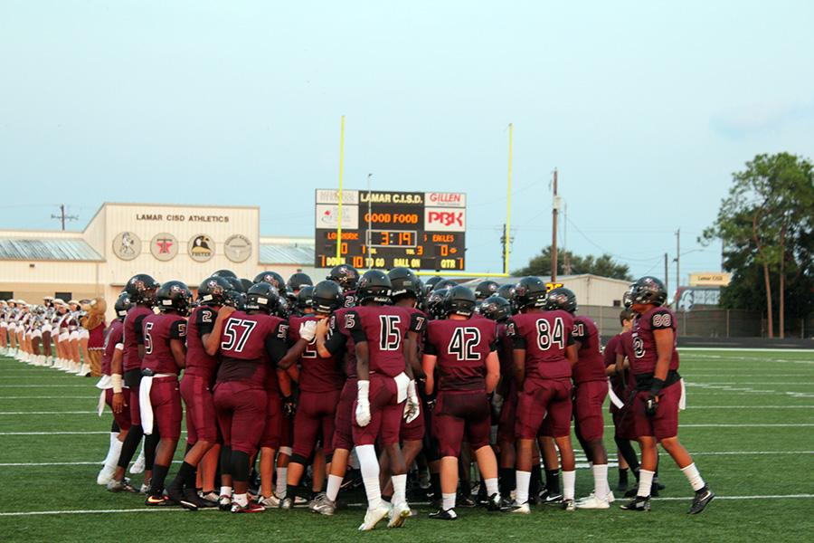 George Ranch Longhorns begin the first game of the year!