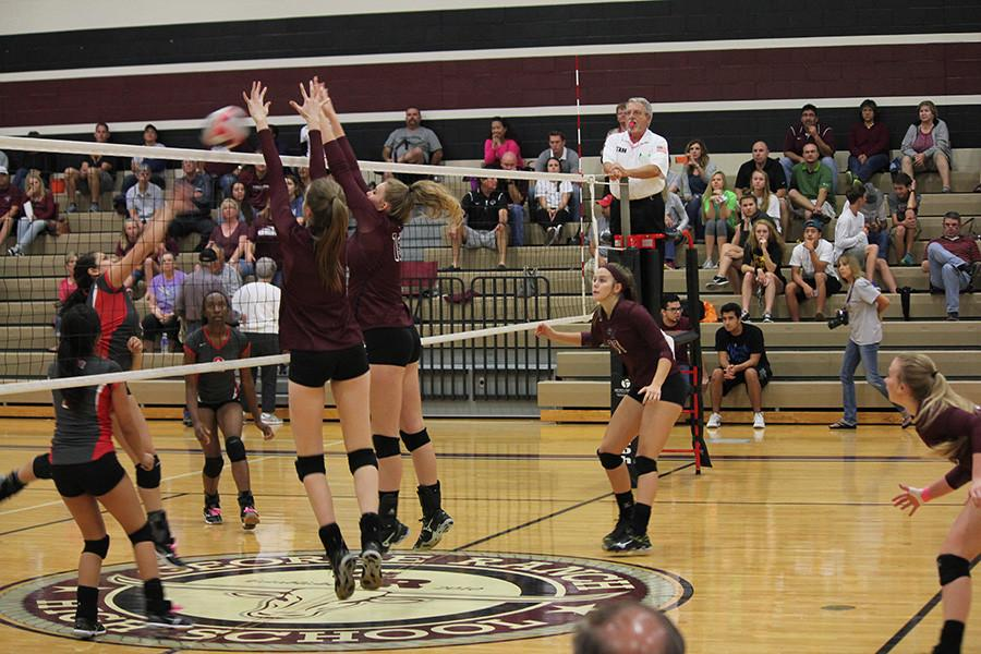 Valerie Valerian and Ambrielle Logan block an attack from Terry.