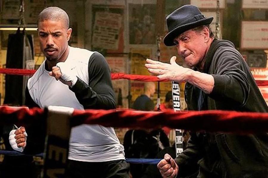Adonis Creed (Michael B Jordan) and Rocky Balboa (Sylvester Stallone).