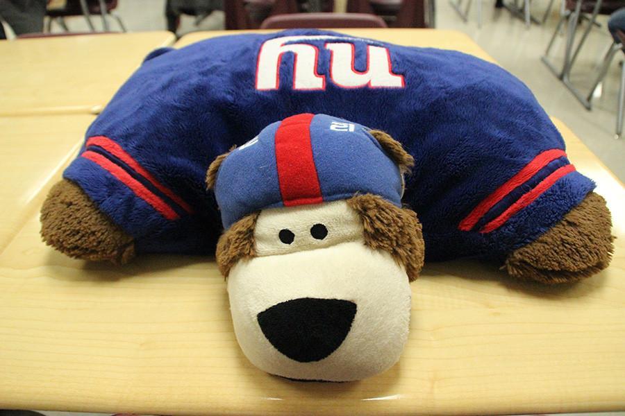 My NY Giants pillow pet #TrueFanStatus.