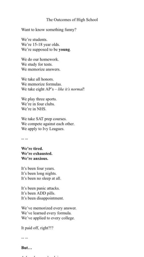 highschool poem