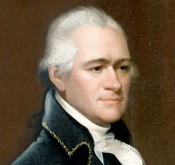 Alexander Hamilton, one of the founding fathers of the United States, whose story is told through the new broadway musical, Hamilton.