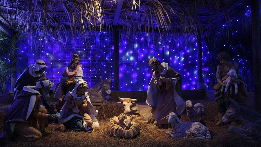 Nativity Scene     One of the christmas displays at The Osborne Family Spectacle of Dancing Lights.at Disney's Hollywood Studios Orlando Florida  www.facebook.com/ChadSparkesPhotography/