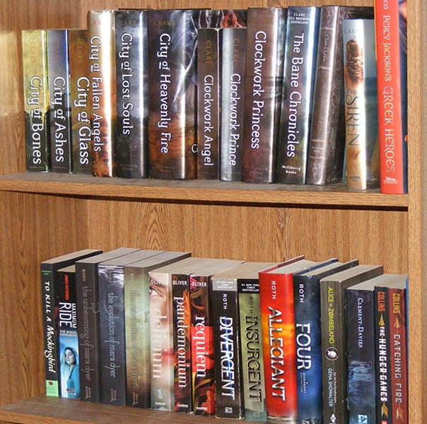 A+book+shelf+filled+with+all+of+her+favorite+books+