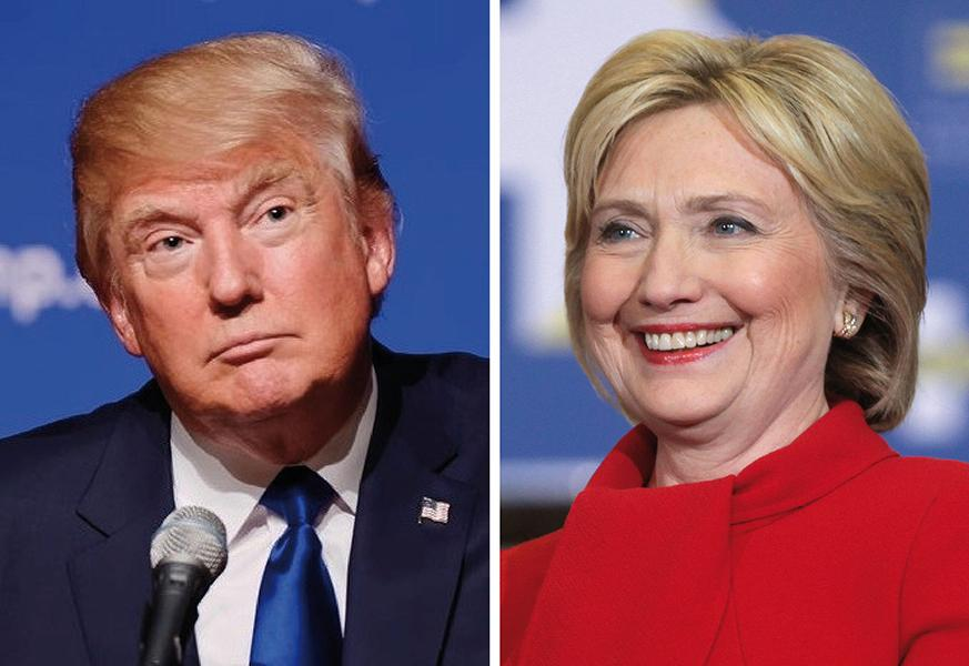 The two candidates - Donald Trump and Hillary Clinton