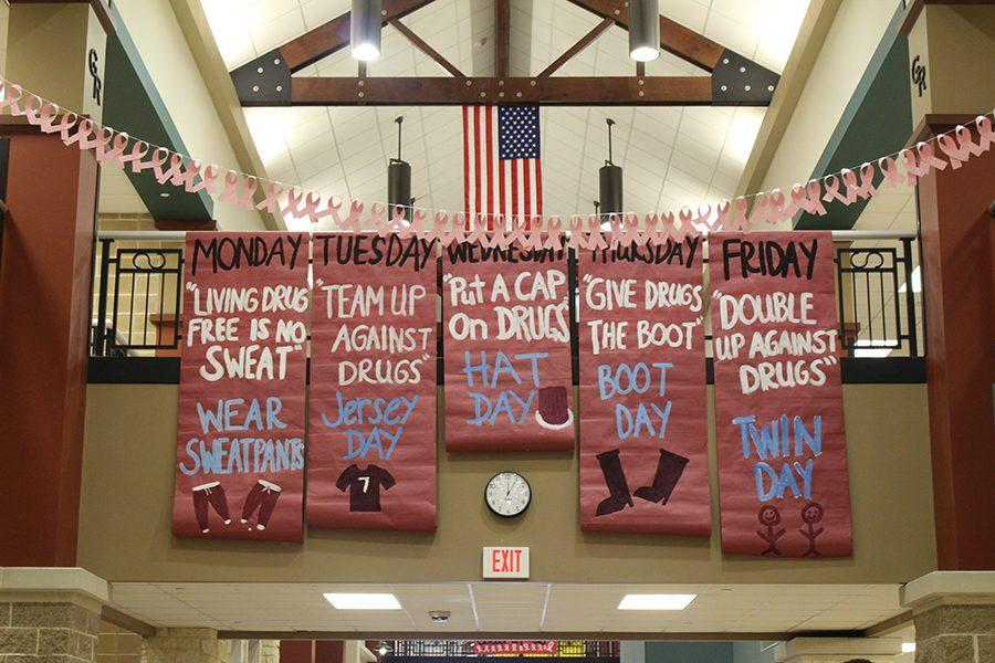 The School Spirit Days for Red Ribbon Week!