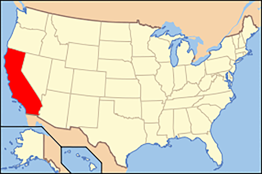 Map+of+USA+with+California+highlighted