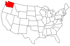 Location of Washington in the U.S.