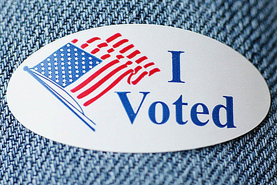 A sticker given to those who voted from October 22-28 and Nov. 6th