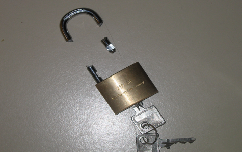 A broken lock representing bypassing security.