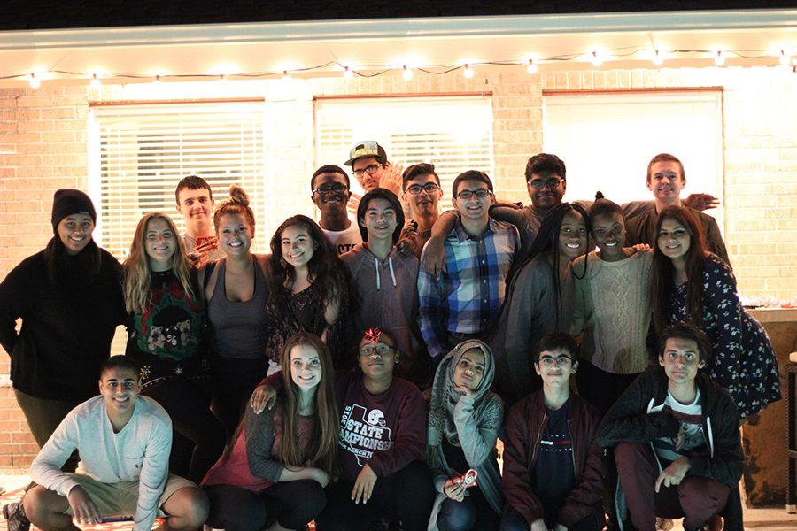 The speech and debate team held an christmas get together to celebrate the holiday season.