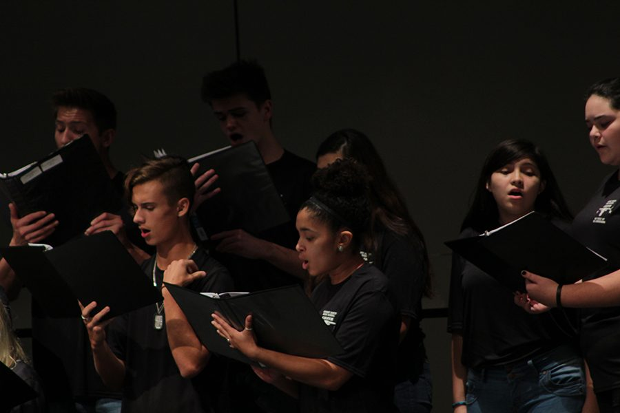 Senior Brianna Franklin sings her heart out on one of the Regional Choir pieces.