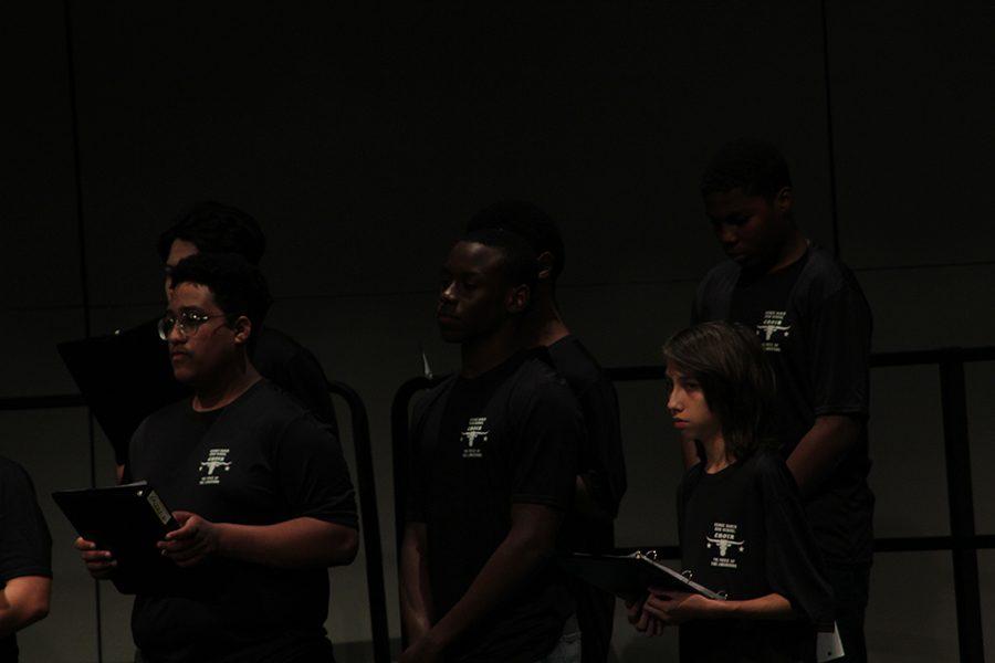 Senior, Kosi Ejeckam, stood tall in the Men's Choir.
