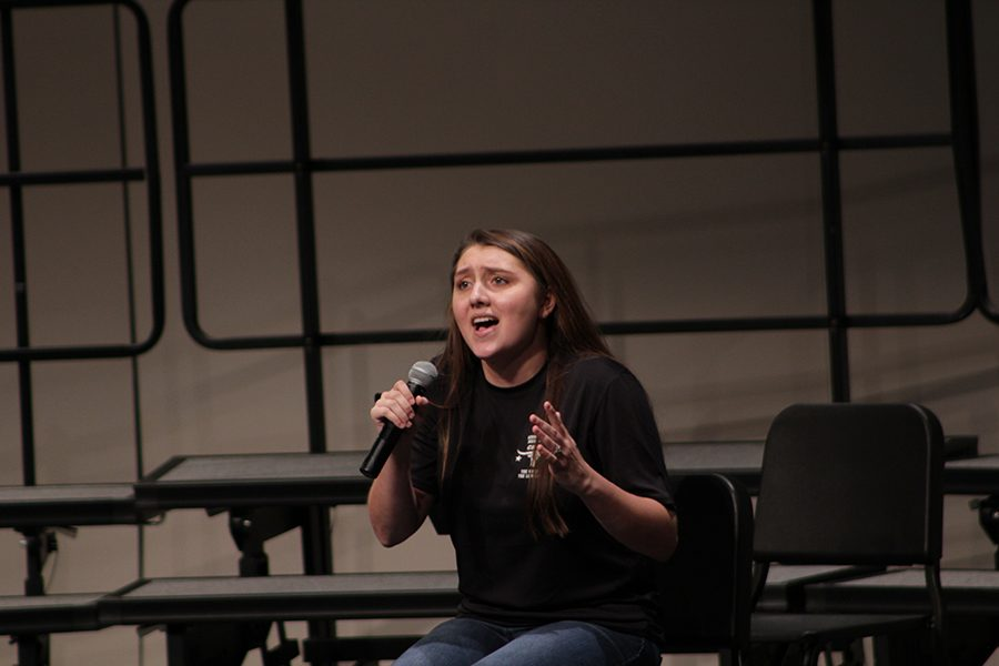 Senior, Kristen Almstead, song her solo with so much emotion, that made the crowd relate.