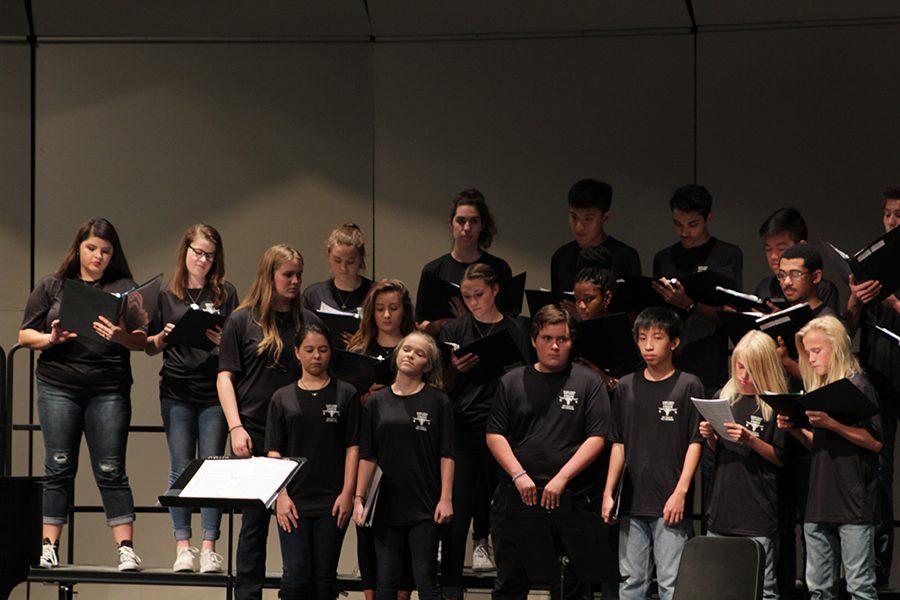 Regional Choir prepared themselves for their next song.