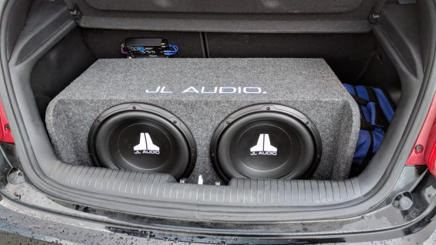 Two 12 inch JL subwoofers