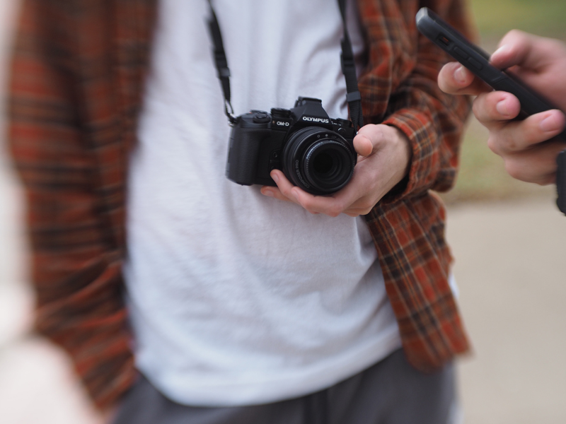 A few of the kids who went to the convention had the opportunity to shoot with an Olympus camera and a Lensbaby.