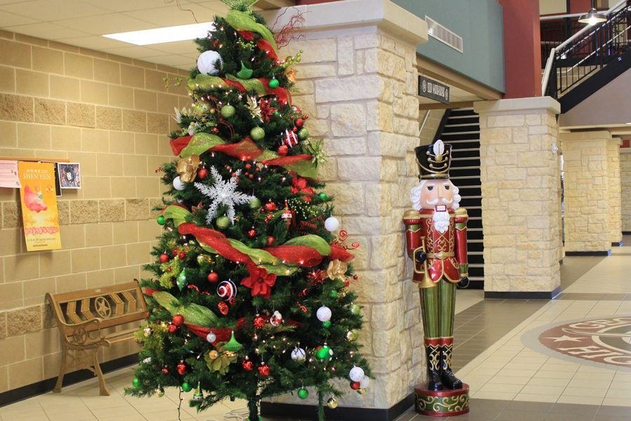 Beautiful Christmas trees by the staff and students in the Main Street of George Ranch