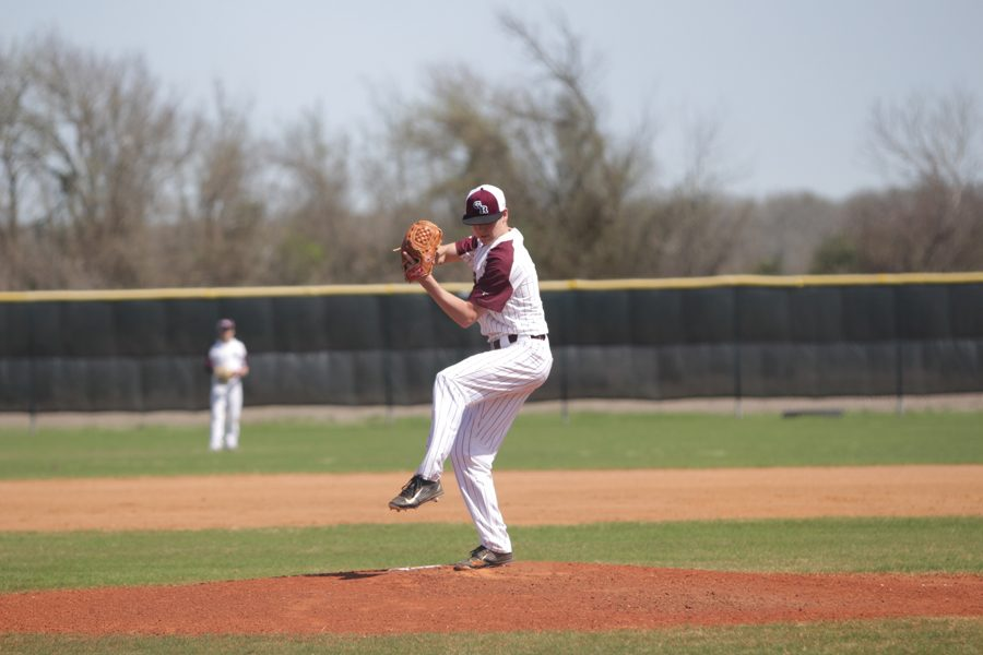 Pitcher Jacob Surratt winds up