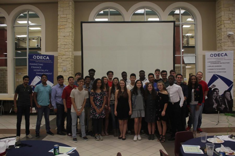 DECA members celebrating a great year