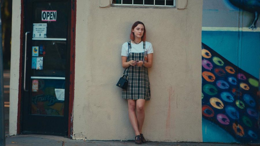 A still of Saoirse Ronan in Lady Bird.