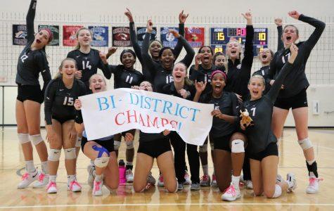 The Varsity team wins Bi-District champs!
