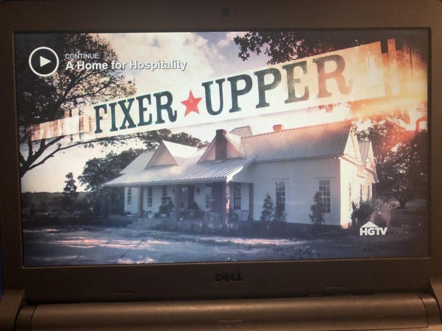 Fixer Upper, a tv show on HGTV.