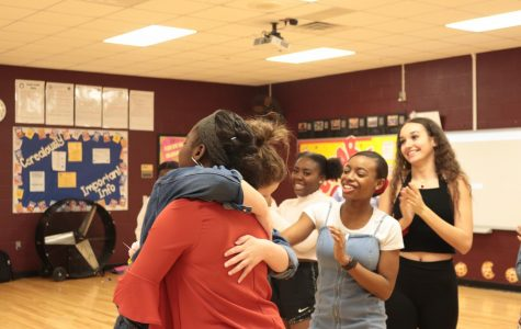 Makayla Mcnight hugging one of her closest friends.