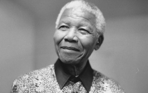 Nelson Mandela, the first President of South Africa.