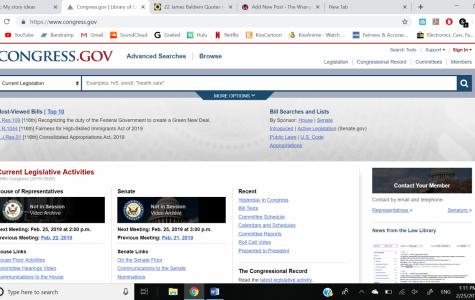 Congress's official website