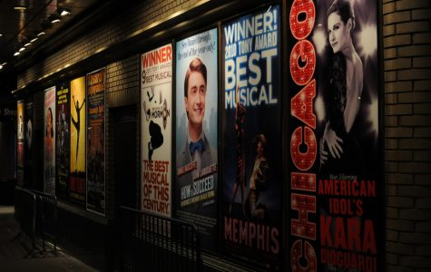 Some of the most famous Broadway musical posters advertising underground.