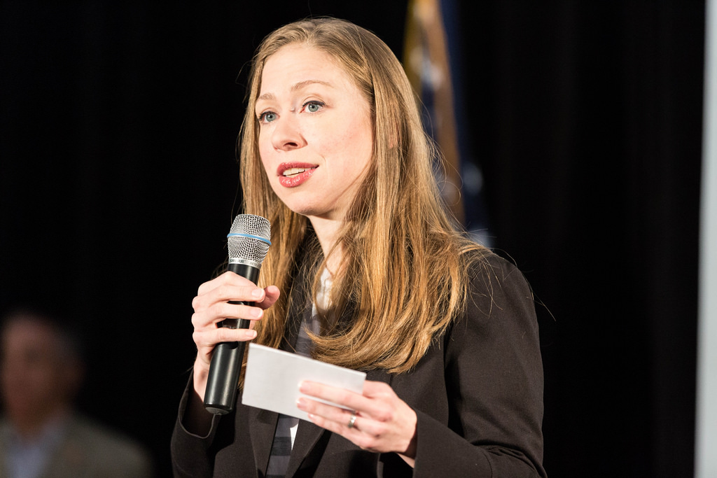 Chelsea Clinton expresses her uneducated opinions during the MN Rally,