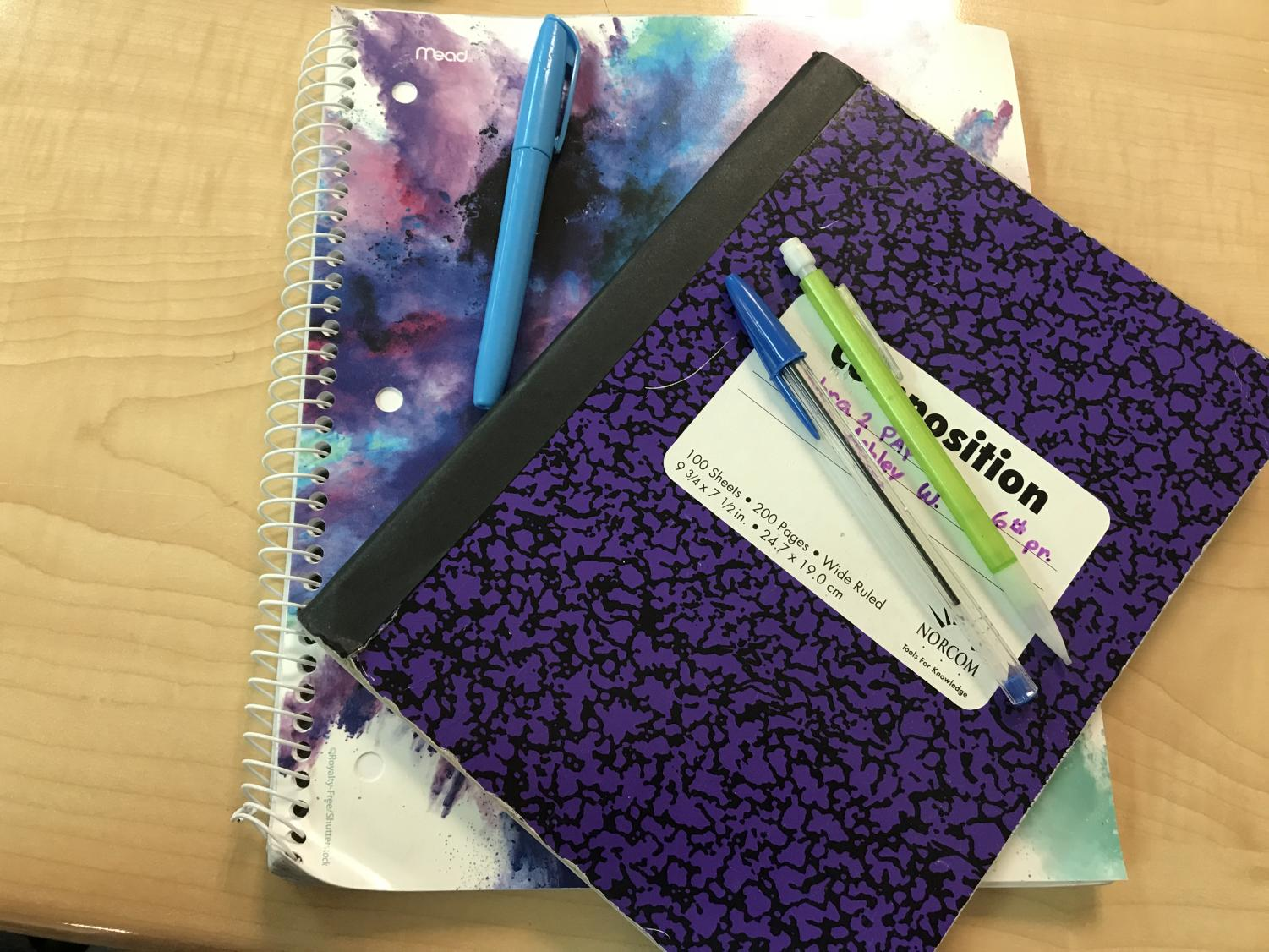Supplies needed to study include notebooks, pencils, pens, and a highlighter.