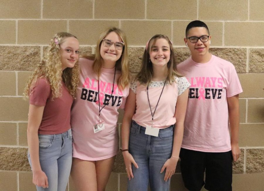Lanae Bouie (Left), Brenna Buchanan(Left Middle), Hannah Rice (Right Middle), Nathan Martinez (Right).