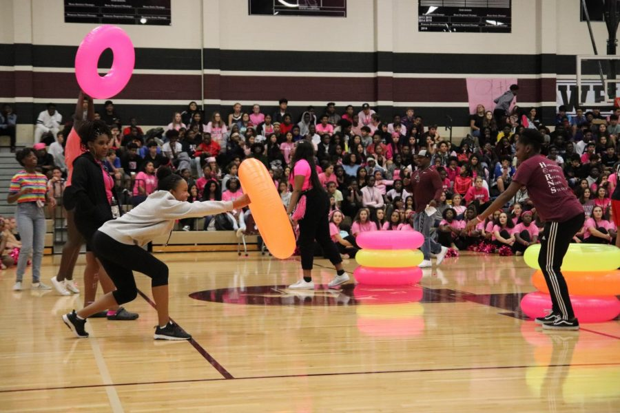 Pep rally is all pink out