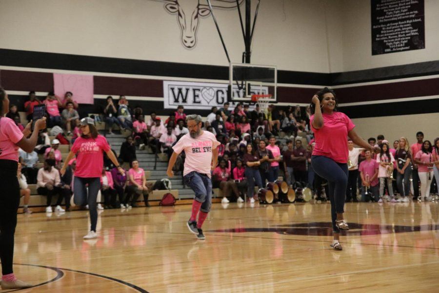 These teachers are too smooth to be dancing for the school.  Ms. Reeves(left) Siegmund(Middle) Ms.Hills(Right)